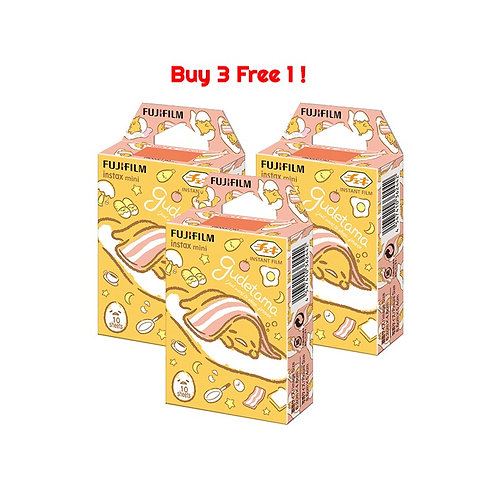 (3 Plus 1 Free) Fujifilm Instax Mini Film Gudetama 2