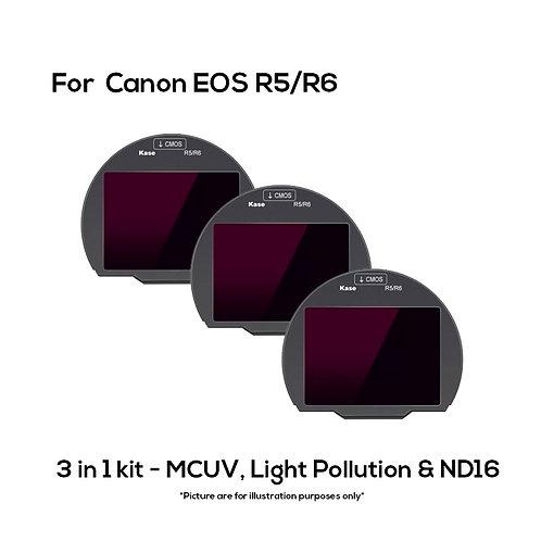 KASE Clip in Filter for Canon R5/R6  (3 in 1 Kit)