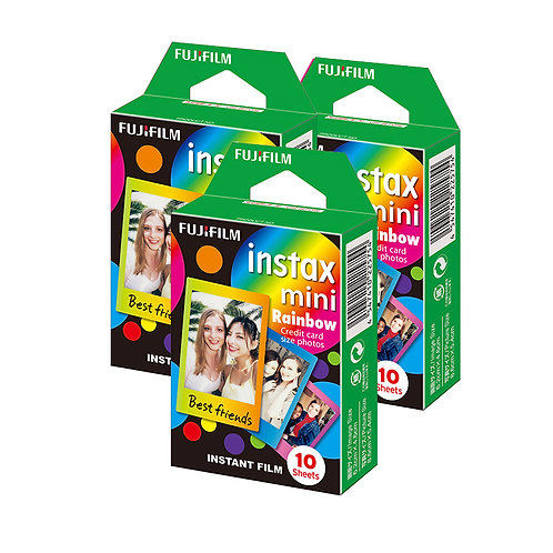 (3 Plus 1 Free) Fujifilm Instax Mini Film Rainbow