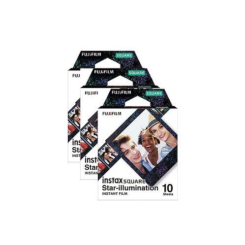 (3 Plus 1 Free)  Fujifilm Instax Square Film Star Illumination