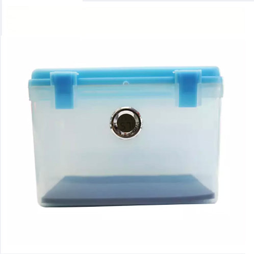 Portable 10L Dry Box with Silica Gel Pack and Digital Hygrometer