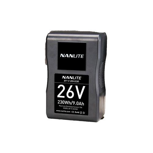 Nanlite 26V 230Wh Li-Ion V-Mount Battery