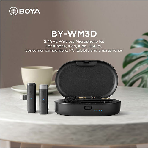 BOYA BY-WM3D 2.4GHz Wireless Microphone