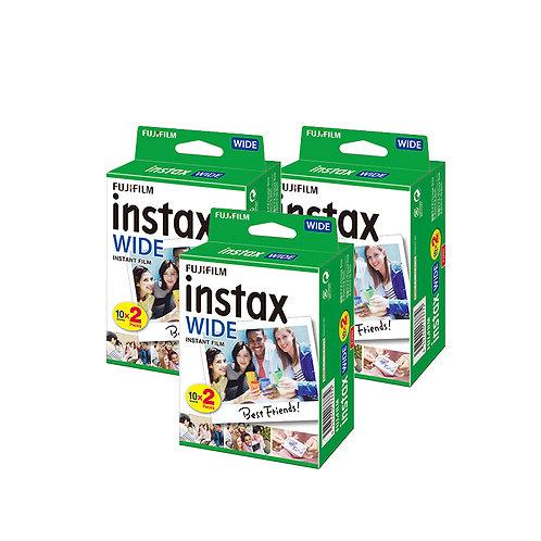 (3 Plus 1 Free) Fujifilm Instax Wide Twin Pack