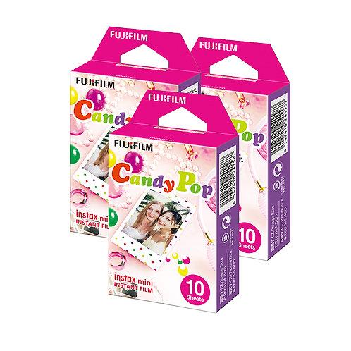 (3 Plus 1 Free) Fujifilm Instax Mini Film Candy Pop