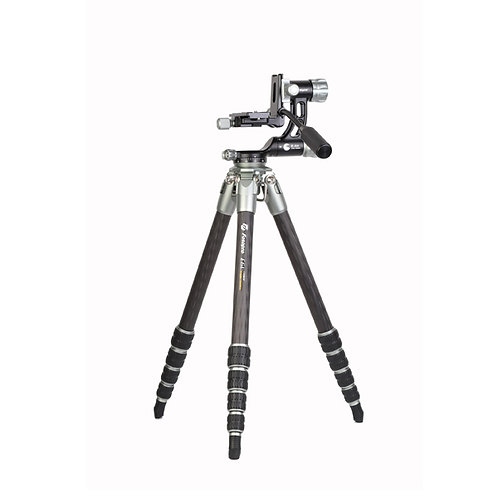Fotopro E6 Eagle Series Carbon Fiber Travel Tripod with Gimbal Head