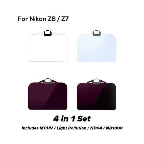 KASE Clip in Filter for Nikon Z6/Z7 (4 in 1 Set)