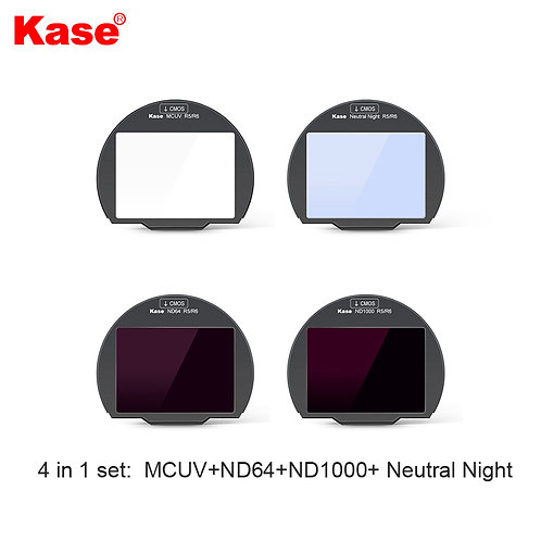 (Preorder) KASE Clip in Filter for Canon R5/R6 (4 in 1 Kit)