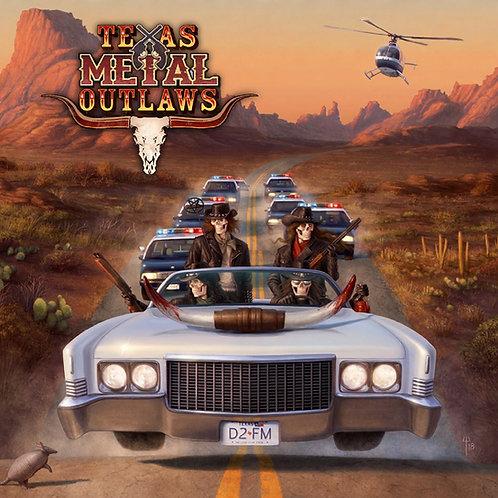 TEXAS METAL OUTLAWS - S/T orange & yellow splatter limited vinyl