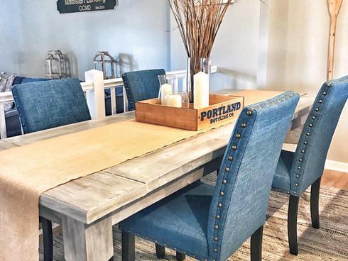 Custom Table In Beach House Dining Area