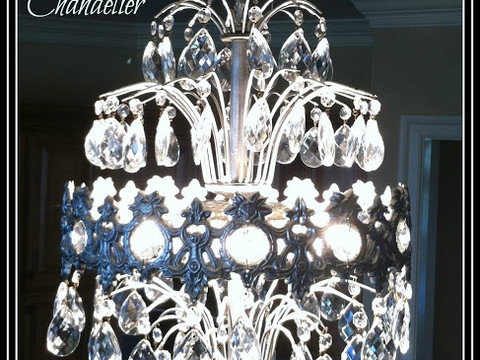 Salon Chandelier Refurbish
