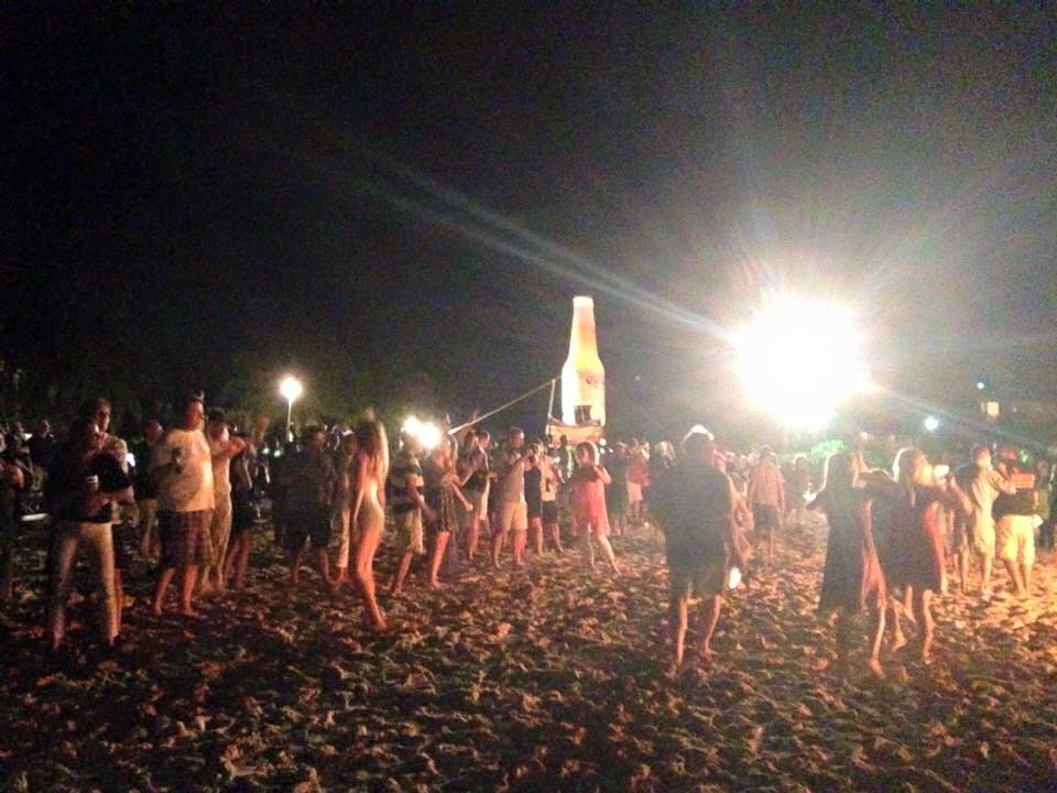 Beach new years party
