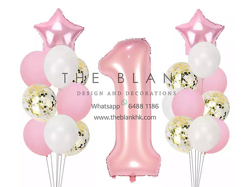 Pink Baby First Birthday Party