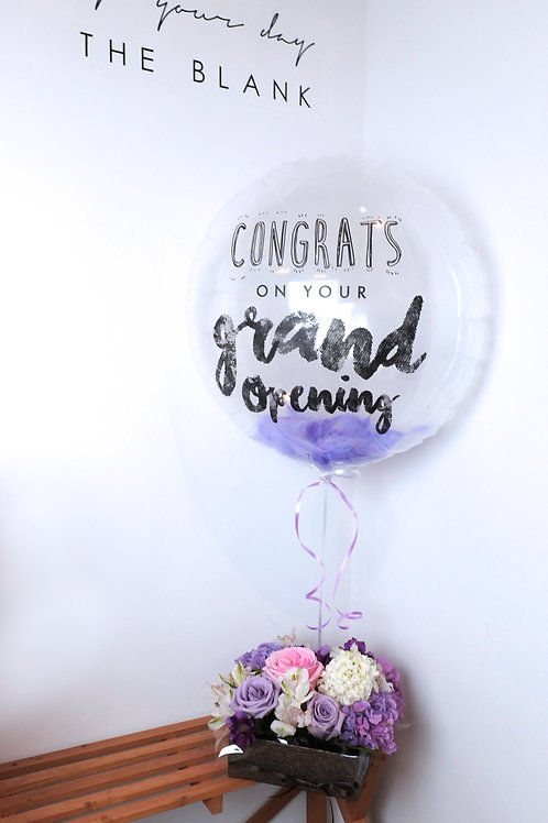 Message Balloon with Flower Box