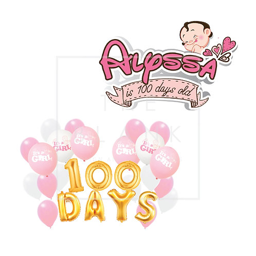 100 Days Baby Decoration Package