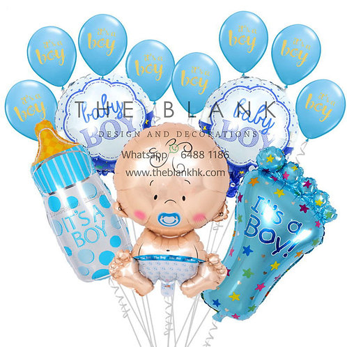 IT'S A BOY SET BALLOONS BOUQUET PARTY