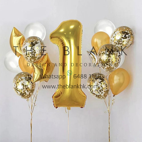 GOLD BABY FIRST BIRTHDAY PARTY