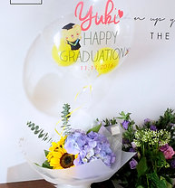 Mini Graduation Flower Bouquet with Msg Balloon