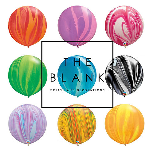 "30"" Marble Agate Balloons 大理石紋汽球"