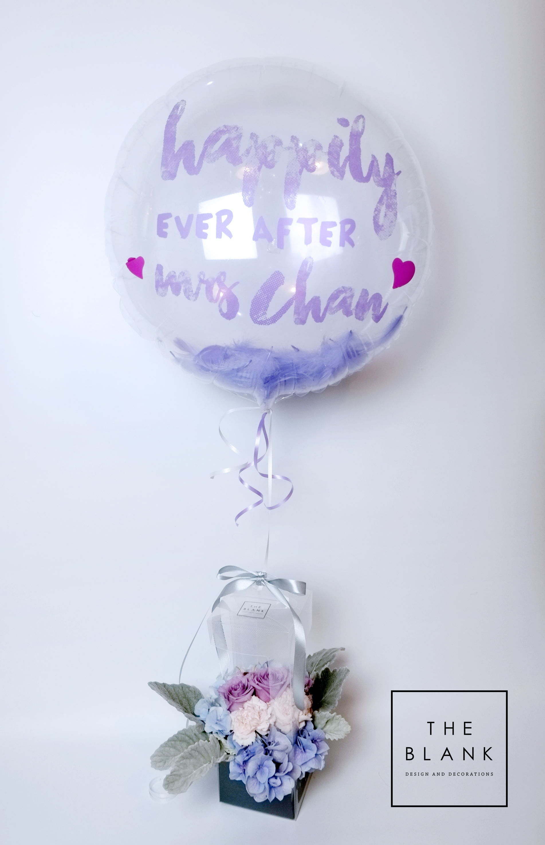 Message Balloon with Floral Arrangem