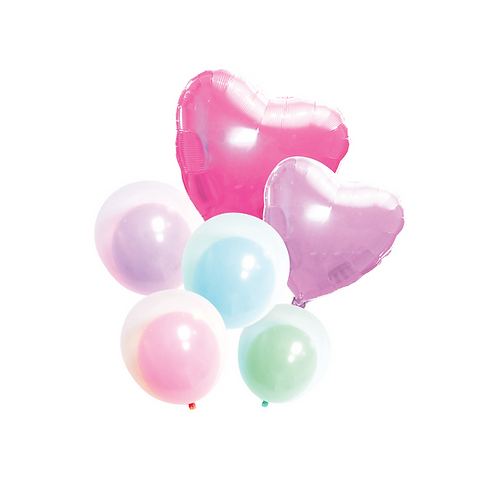 Hearts & Double Balloons Bouquets