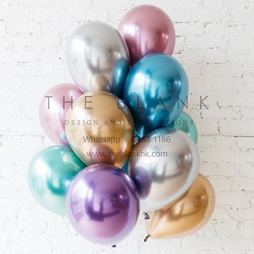 """11"""" Chrome Balloons 金屬色乳膠汽球"""