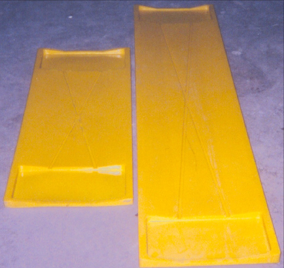 Coil rest pads used in the steel industry