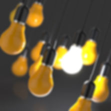 yellow hanging lightbulbs