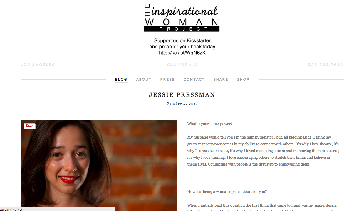 Jessie Pressman Featured!