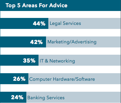 Small Business Leaders' Top 5 Areas for Advice