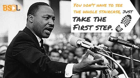 Take the First Step, MLK