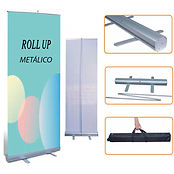 roll up metálico (expositor) display