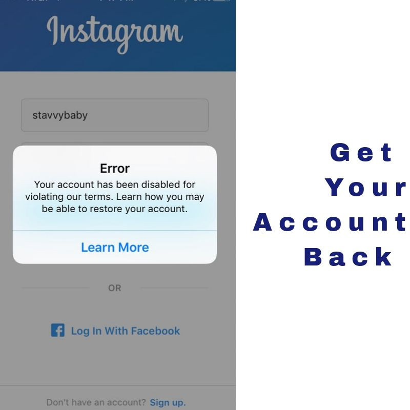 How to get my instagram account back