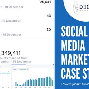 Social Media Marketing Case Study 2021 - B2C Business Generating $18,111.89