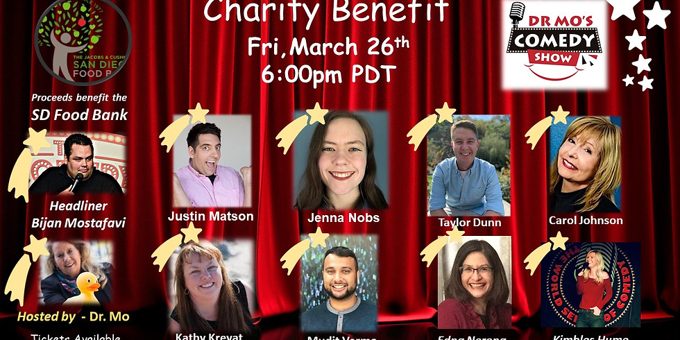 Dr. Mo's Charity Benefit Comedy Show - March 26th