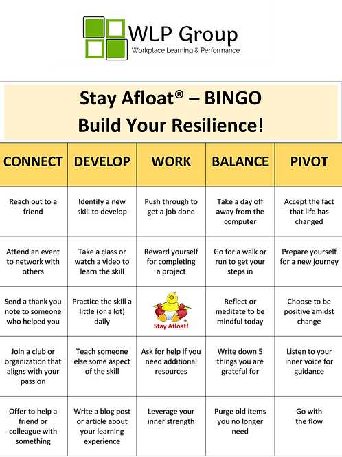 Stay Afloat- Resilience BINGO