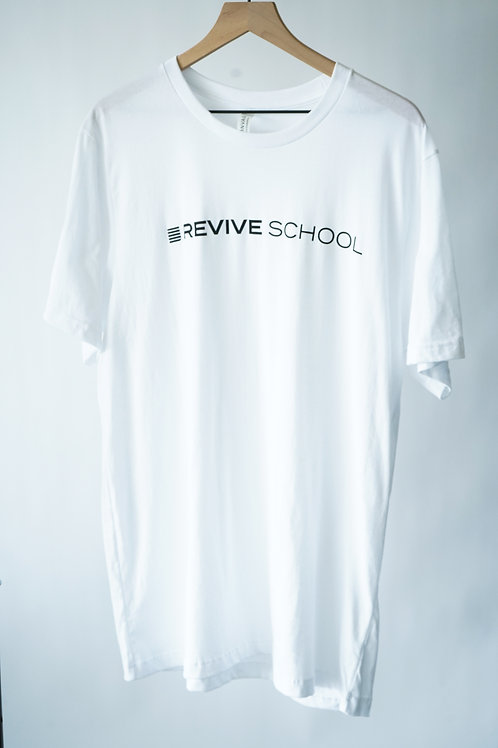 White Revive School Logo Tee