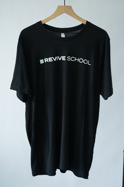 Black Revive School Logo Tee