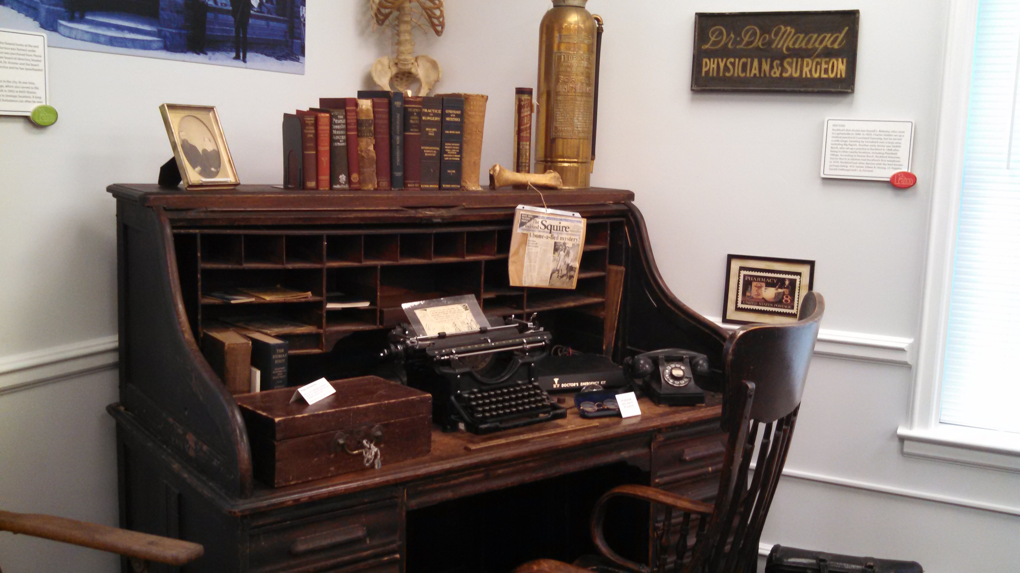 Doctor DeMaagd's desk