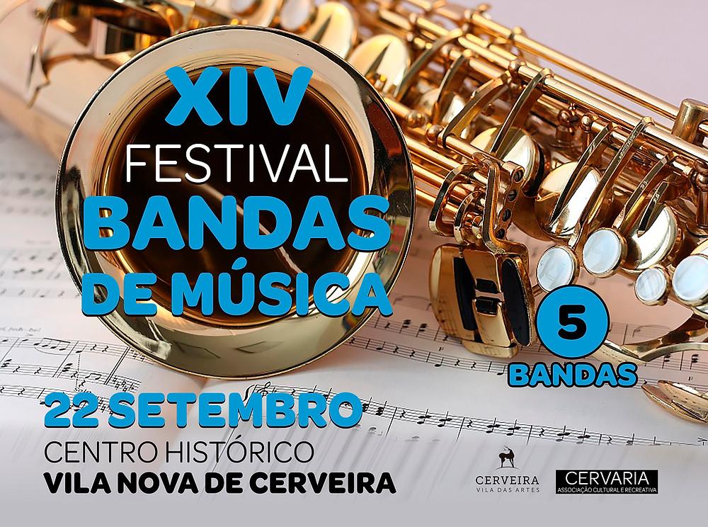 Cartaz do XIV Festival Bandas de Música