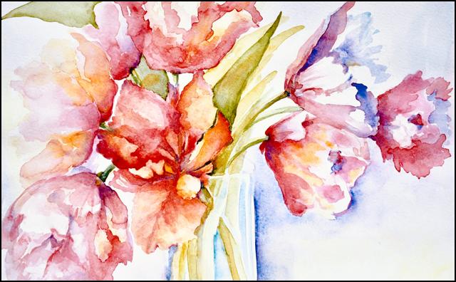 Vase of Tulips 11x14