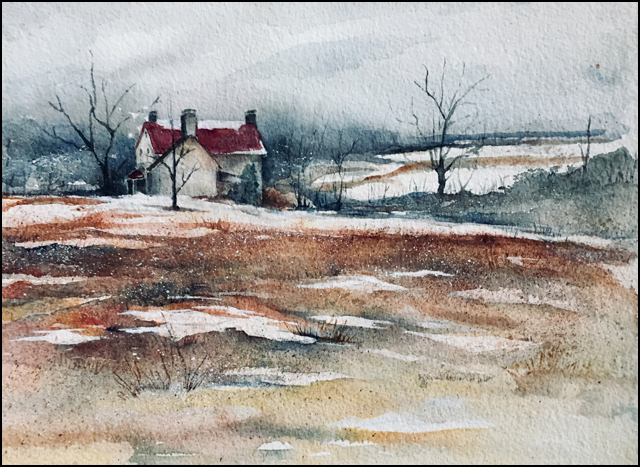 Winter Retreat 11x14 (sold)