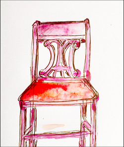 Red Chair 5x7
