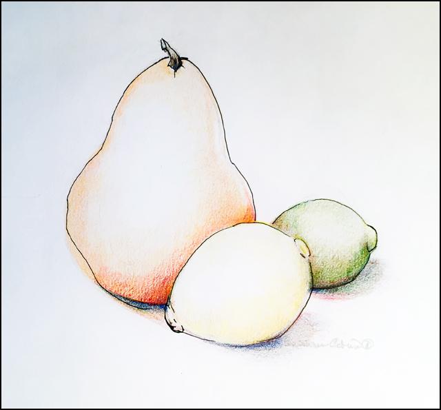 Lemon Lime & Pear 5x7 (sold)