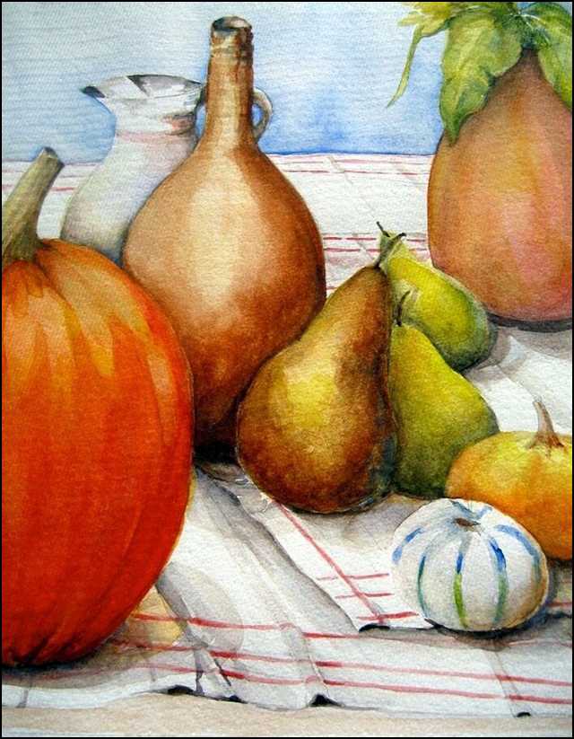 Still Life with Pumpkins 11x14