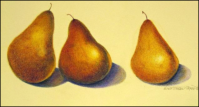 Three Pears 9x5 (sold)
