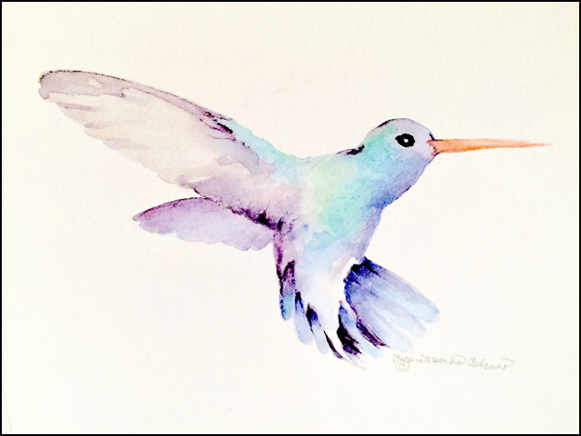 Hummingbird 11x14 (sold)