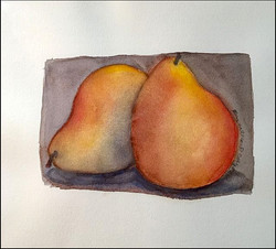 Pears on Grey 8x10 (sold)