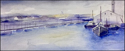Gray Day at the Pier 9x4