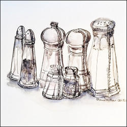 Salt and Pepper Shakers 5x7 (sold)